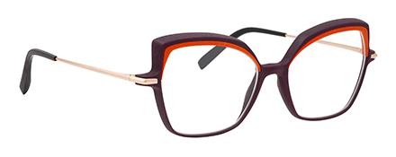 Optique impression 3D haute résolution vm l atelier créateur monture femme orange